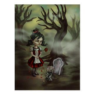Zombie Graveyard Girl Postcards