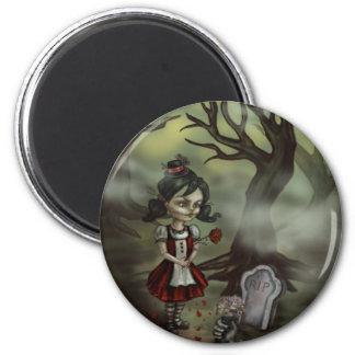 Zombie Graveyard Girl Refrigerator Magnet