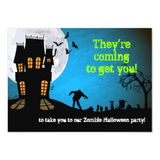 Zombie Graveyard Halloween Party 11 Cm X 16 Cm Invitation Card