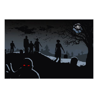 Zombie Graveyard Poster