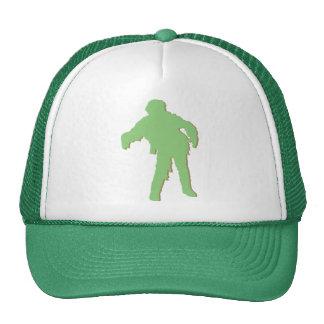 Zombie Green Silhouette Trucker Hats