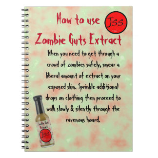Zombie Guts Extract Satire Spiral Note Books