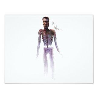Zombie Halloween 11 Cm X 14 Cm Invitation Card