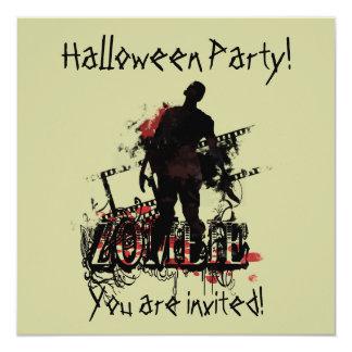 Zombie Halloween 13 Cm X 13 Cm Square Invitation Card