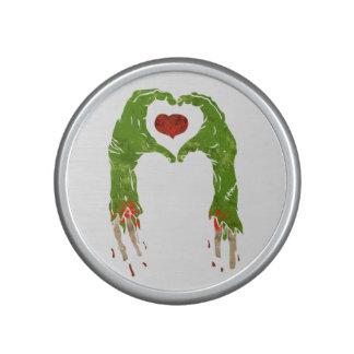 zombie hand making heart speaker
