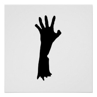 Zombie Hand Poster