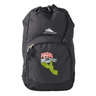 zombie hand serving brain backpack