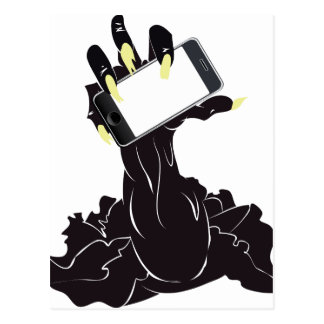 Zombie Hand with Phone Postcard