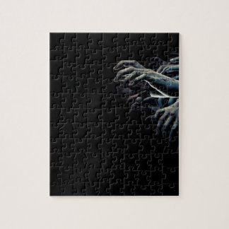 Zombie hands jigsaw puzzle