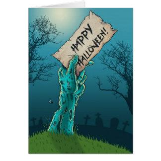 Zombie Happy Halloween Card