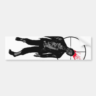 zombie head shot bumper sticker