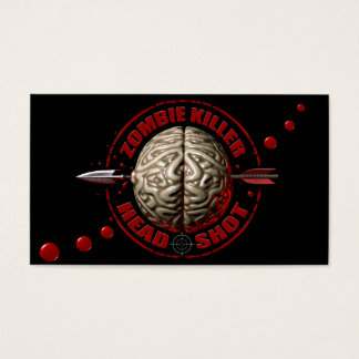 Zombie Head Shot Business Card