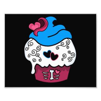 Zombie Heart Cupcake Photographic Print