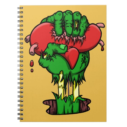 Zombie Heart Notebook - 80 Pages