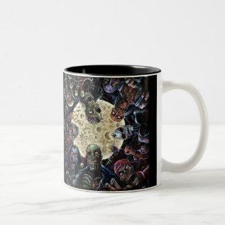 Zombie horde attack Two-Tone mug