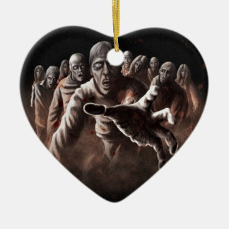 Zombie Horde Christmas Ornament