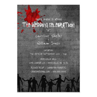 Zombie Horde Gothic Dark Wedding Invitation