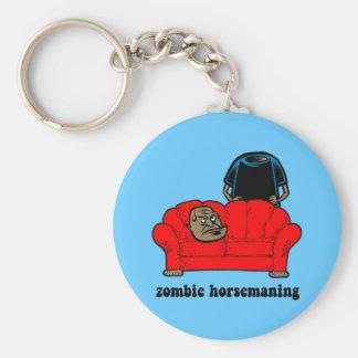 zombie horsemaning basic round button key ring