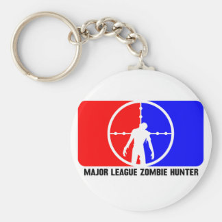 zombie hunter 1 basic round button key ring