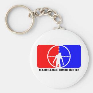 zombie hunter 1 basic round button key ring