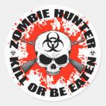 Zombie Hunter 1 Round Stickers