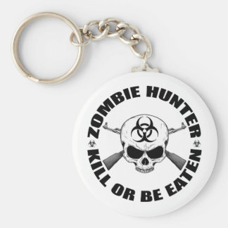 Zombie Hunter 2 Basic Round Button Key Ring