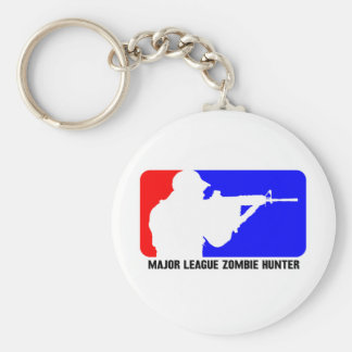 zombie hunter 3 basic round button key ring