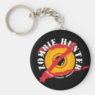 Zombie Hunter Badge Keychain