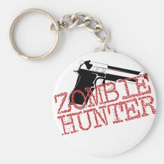 Zombie Hunter Basic Round Button Key Ring