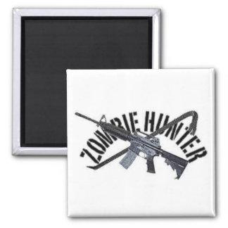 zombie hunter square magnet