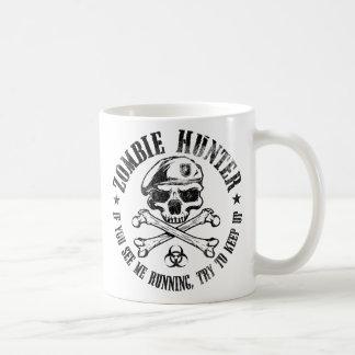zombie hunter undead living dead basic white mug