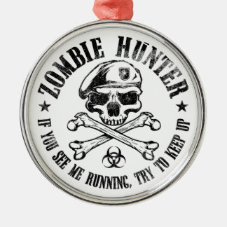 zombie hunter undead living dead christmas ornament