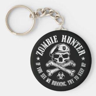 zombie hunter undead living dead key ring