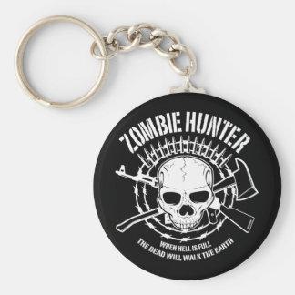 zombie hunter undead living dead key ring