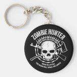 zombie hunter undead living dead keychain