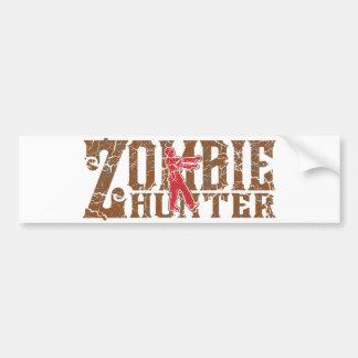 Zombie Hunter Walking Dead Gifts Bumper Sticker