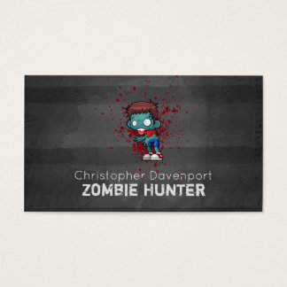 Zombie Hunter with Blood Splatter Creepy Cool