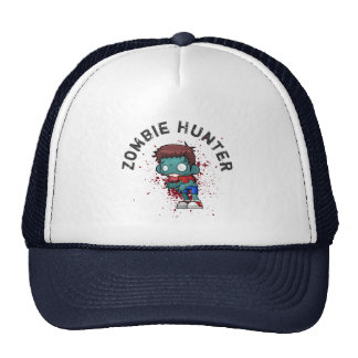 Zombie Hunter with Blood Splatter Creepy Cool Cap