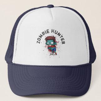 Zombie Hunter with Blood Splatter Creepy Cool Trucker Hat