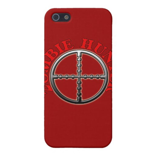 Zombie Hunter with Crosshairs Cases For iPhone 5
