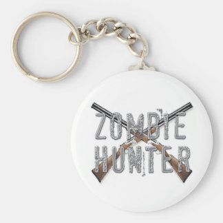 Zombie Hunter with Guns Keychains
