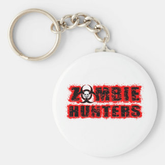 Zombie Hunters Basic Round Button Key Ring