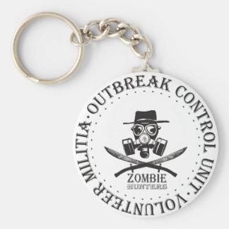 Zombie Hunters.  Zombie Outbreak Response Key Chain