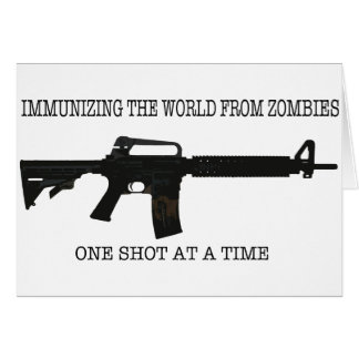 Zombie immunizations greeting card
