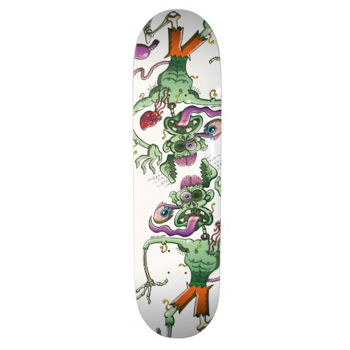 Zombie in Trouble Falling Apart Skateboard