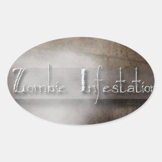 Zombie Infestation Gifts Oval Sticker