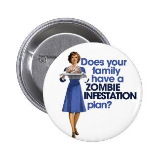 Zombie Infestation Plan 6 Cm Round Badge