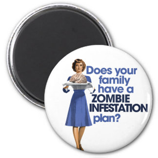 Zombie Infestation Plan 6 Cm Round Magnet