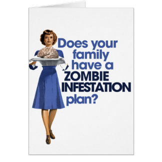 Zombie Infestation Plan Note Card