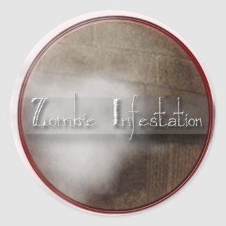 Zombie Infestation T Shirts and Gifts Round Sticker
